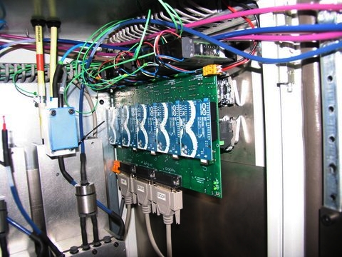 Five arduinos inside the ink cabinet