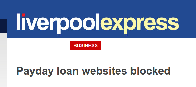 Liverpool Express: payday loans companies blocked