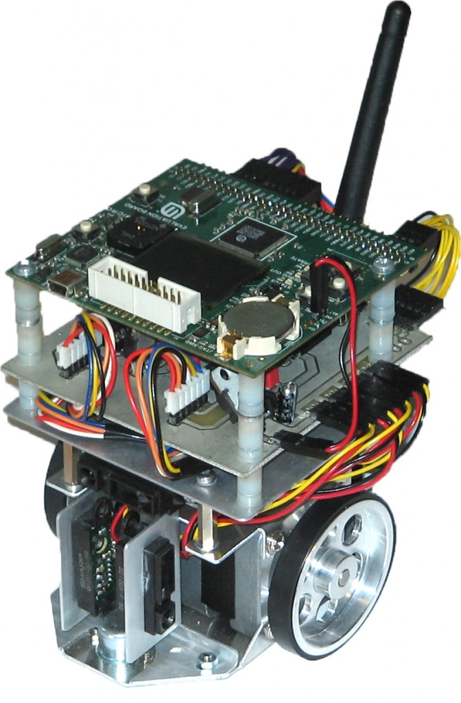 Mobile robot with ARM coretex M3 processor, as found in the Arduino Due